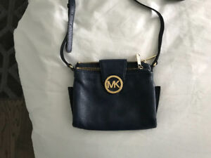 Michael Kors authentic purse. Navy blue. Built in wallet.