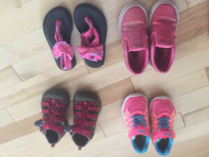 4 pairs of size 9 girls brand name shoes.