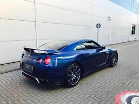 2011 61 reg Nissan GT-R 3.8 V6 ( 530ps ) Blue + RECARO LEATHER + SAT NAV + ++