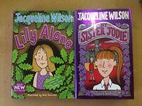 2x Jacqueline Wilson Hardback Books Children's Girls' - 'Lily Alone' + 'My Sister Jodie'