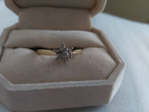 13 CLUSTER DIAMOND ENGAGEMENT/PROMISE  RING-SIZE 11