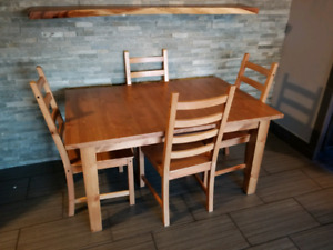Nice Stornas Ikea Table and 4 Kaustby Chairs