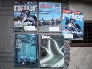 Collecton of Motorcycle magazines Rider