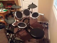 Electronic Drum Kit W/ Double Kick Pedals OR TRADE FOR ACOUSTIC