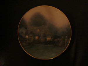 Thomas Kinkade MERRITT'S COTTAGE Knowles 1992 China Plate