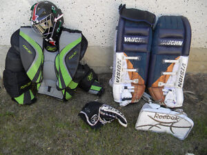 Goalie Equip  for on ice use   SPECIAL REDUCED PRICE $249