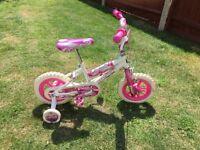 Girls bike pink and white / bicycle