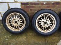 """BBS 14"""" Alloy Wheels 4x100"""