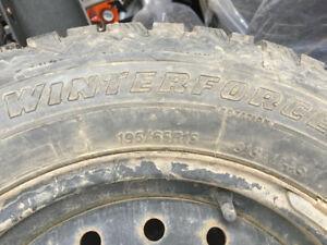 LIKE NEW - SET OF 4 WINTER TIRES AND RIMS