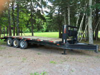 Price Drop! 2012 LWL 21' Flatbed trailer for sale with ramp