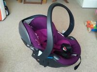 Stokke izi go car seat in purple