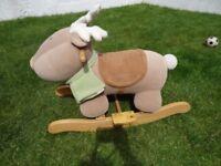 mamas & papas wooden soft rocker reindeer chair
