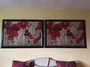 2 framed pictures /art