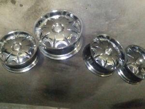 Empire car rims; multiple bolt pattern.