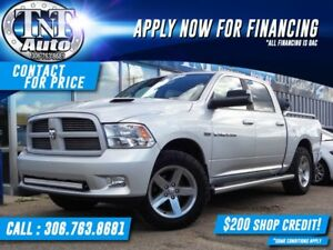 2012 RAM 1500 Sport Crew Cab 4WD LEATHER-SUNROOF-BACKUP CAM