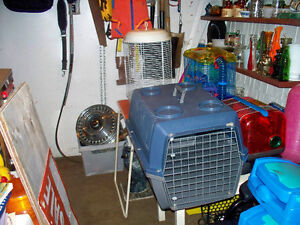 2 SMALL PET CARRIERS  AND 1 BIRD CAGE MISSING CLIPS