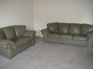 """""""Raw-Hide"""" 100% Leather Couch And Loveseat, Can Deliver"""