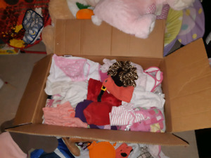 Giant box of babygirl clothes 0m-1y