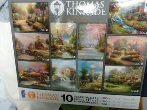 sealed box of 10 Jigsaw Puzzles, larger puzzle pieces