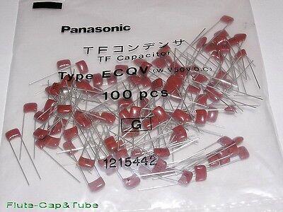 100pc Panasonic 0.01uF 50V 5% 105°C ECQV Metallized Plastic Film Capacitor RoHS