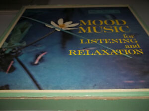 """9 X12""""vinyl records Mood Music for Listening and Relaxation"""
