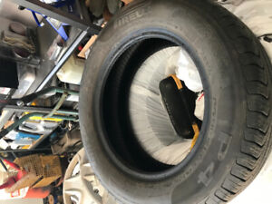 Two Pirelli 195/65r15 Tires for sale