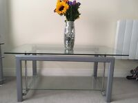 Glass 2 tier coffee table