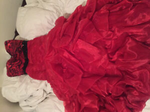 Red mermaid-style GRAD gown