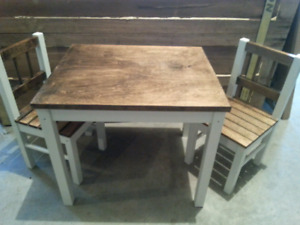 Refinished kids table and chairs sold ppu