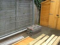 Heras site security fence panels 3 meters wide 4 available Good condition, Telford, Shropshire