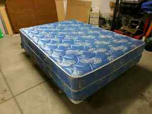 Queen mattress, box spring and bed frame