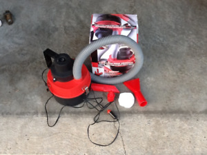 AUTO VACUUM CLEANER,portable wet or dry,inflates pools etc.$10
