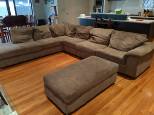 7 Seater Lounge with Chaise and Sofa Bed