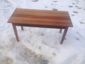 INVENTORY CLEAROUT :  Mahogany Entrance Bench OR Coffee table