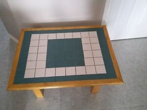 HANDMADE SOLID WOOD CERAMIC TILE TOP COFFEE TABLE London Ontario image 4
