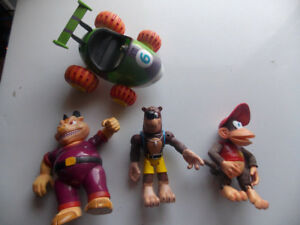 Rare - 1990's Diddy Kong Racing Action Figures  Lot