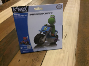 Wii/K'nex Mariokart Yoshi Bike Building Set (Sealed)