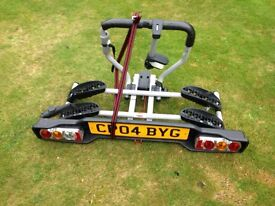 Bike carrier fits tow bar two bikes