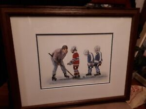 Patricia Bourque signed and numbered ( PP 12/15) hockey print