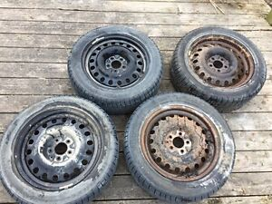 4 winter tires on rims Kitchener / Waterloo Kitchener Area image 1