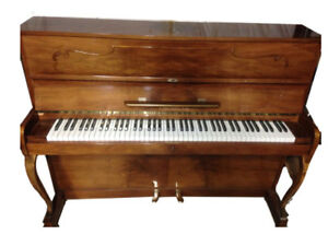 Beautiful Gloss Walnut Console Piano