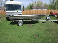 """14 FOOT FISHER""""""""ALUMINUM USED TWICE"""""""" NO TRAILOR""""""""$1700-OBO"""