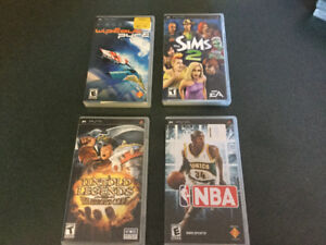 Sony PSP Video Games with Manuals