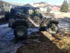2005 Jeep TJ Sport Camo Wrapped Low km, Lift Kit, Sound System