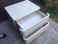 CREAM SOFT SHUTTING CAMPERVAN CARAVAN BOAT (( chest of drawers )) VW T25 - t4 Etx - was £590 -