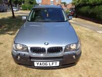 2006 BMW X3 3.0d SE auto [LEATHER+SAT NAV+PHONE+SIDE STEP+FULL SH+LONG MOT]
