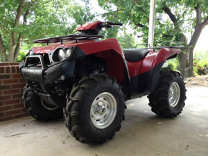 kawasaki brute force 2005 pieces usage use parts color RED