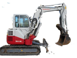 Takeuchi TB138FR Mini Excavator, 4Ton Unit, Low hours