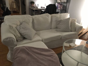 Ikea couch and ottoman - GREAT condition