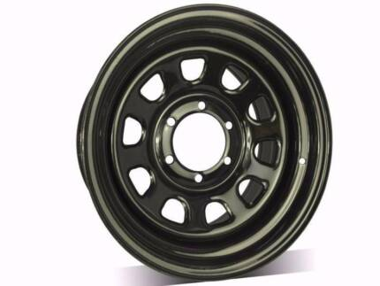 "Wanted: 4x4 Sunraysia rims steel wheels trailer wheels 13"" TO 17"" From$70"